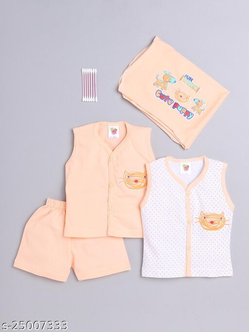 LiL LoVe! AMY BABY GIFT SET (New Born) 0-3 Months. Assorted Color & Design  (Design May Vary)