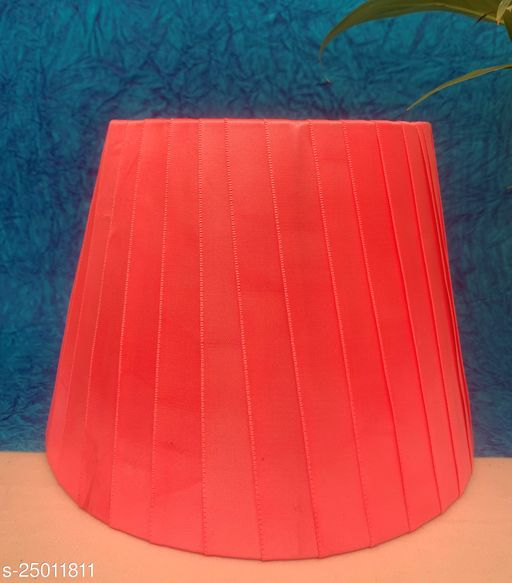 """GaliRetroVali 10"""" conical fabric lampshade handmade for table lamp desk lamp (Color: Pink; Size (in cms): 25 X 25 X 18; Single Piece)"""