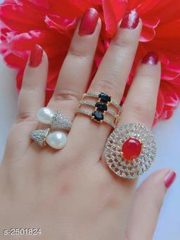 Trendy American Diamond Women's Finger Ring