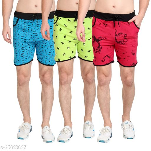 Mens Printed Shorts Pack of 3
