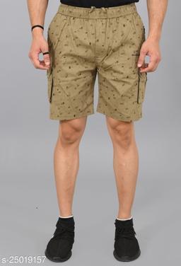 Cargo Sports Men's Printed Cotton Cargo Green Bermunda Shorts