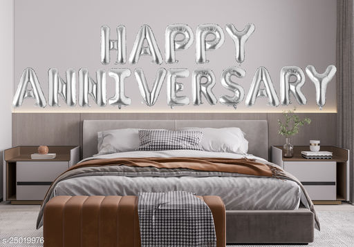 """Style Secrets Amazing Silver 16"""" Happy Anniversary Foil Balloons Pack"""