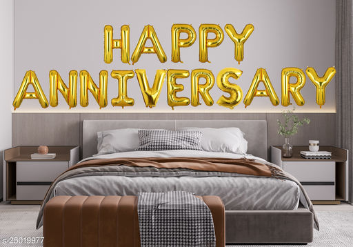 """Style Secrets Amazing Gold 16"""" Happy Anniversary Foil Balloons Pack"""