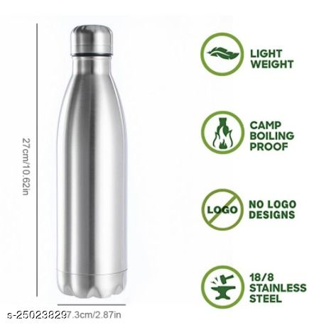 Tornado Portable Stainless Steel Copper Water Bottle BPA free Water Drinking Bottle Gym Sports Vacuum Cycling Hot ad Cold Water Coffee and Tea Drinkware 1000ml
