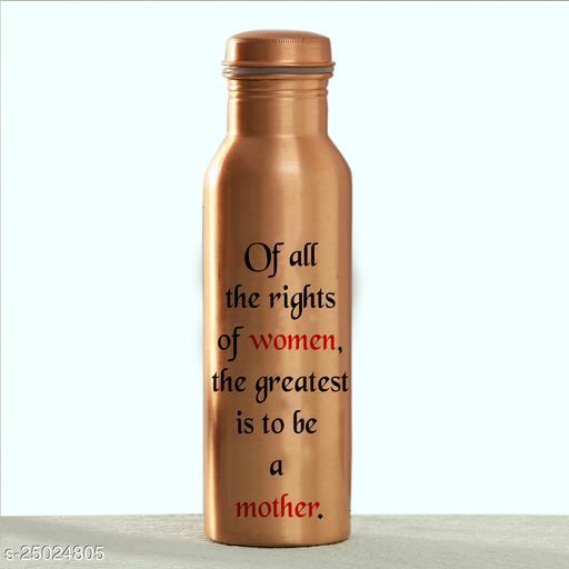 Copper Water Bottle, set of 1, 800 ml