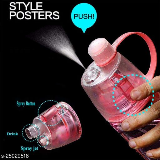 Tornado New B Water Drinking Bottle With Cool Fresh Spray Pink