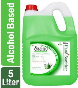Sasimo Green Alovera Sanitizer 5 Ltr