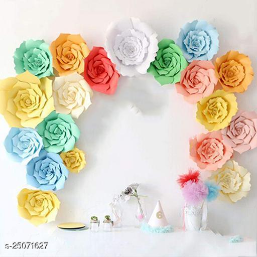 Flowers Paper Flower Decoration 6 Pcs 20 Cm For Birthday Backdrop Decoration Craft Party Supplies Unicorn Pony 1St Birthday Diy Art & Craft Multi Colour (Party Monkey)