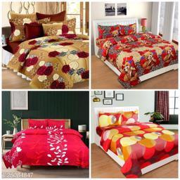 SHIVAAY Polycotton Bedsheet Combo Of 4