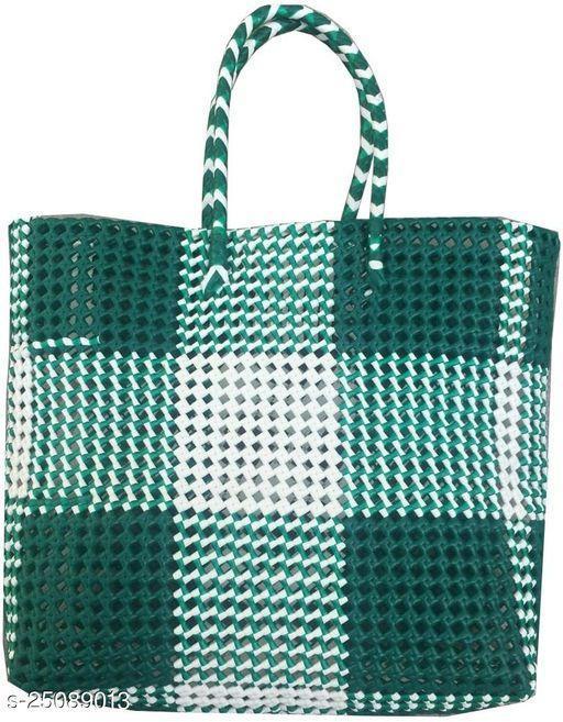 Beautiful Women's Green Polyester Handbag
