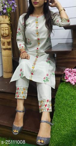 cotton pigment kurta set