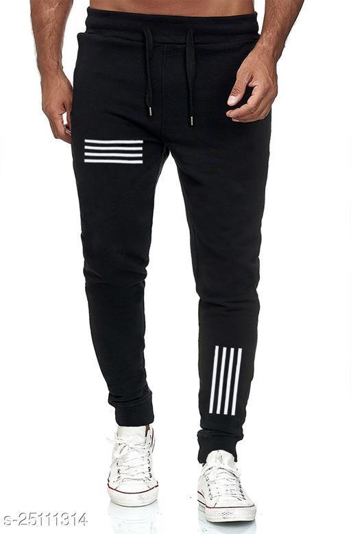 Printed Men Black Track Pants