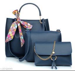 Beautiful Women's Multipack Blue PU Handbag