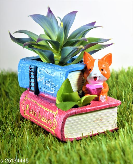 book pot planter with gift pack of beautiful flower seeds (without plant)
