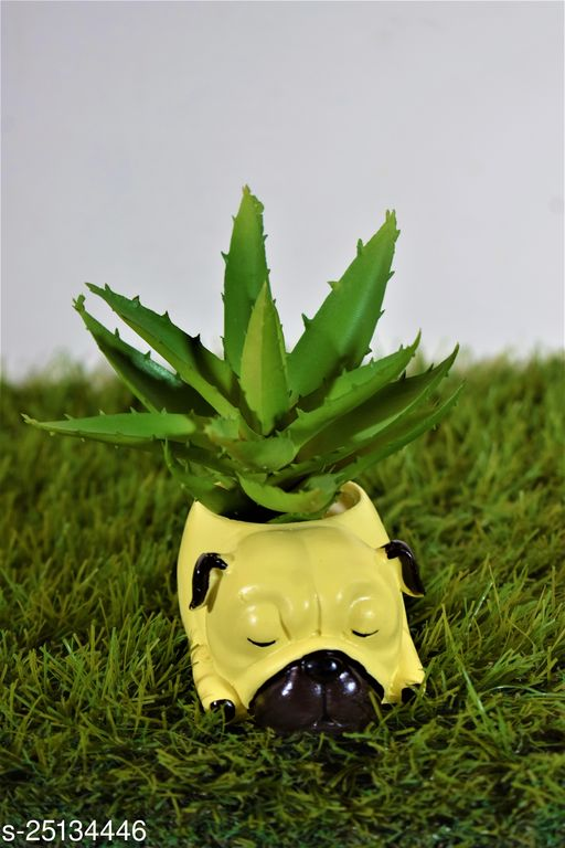 dog pot planter with gift pack of beautiful flower seeds (without plant)