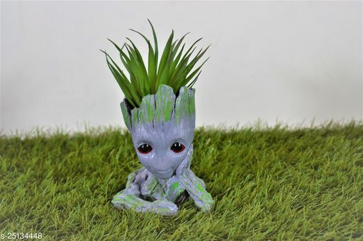 groot thinking pot planter with gift pack of beautiful flower seeds (without plant)