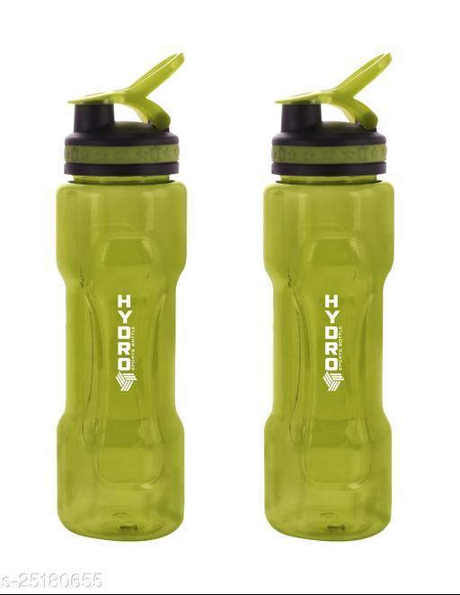 SAURA Hydro Sports Bottle ( Single wall ) 800ml 800 ml  (Green) 2 pc set