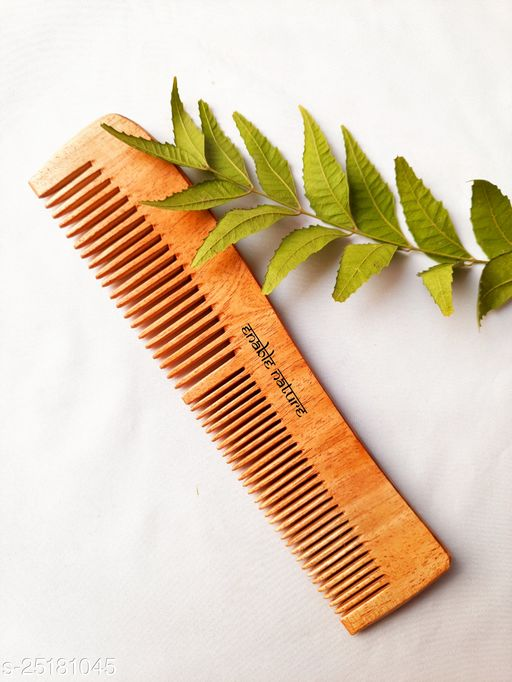 Enable Nature Pure Neem Wood Curved Comb