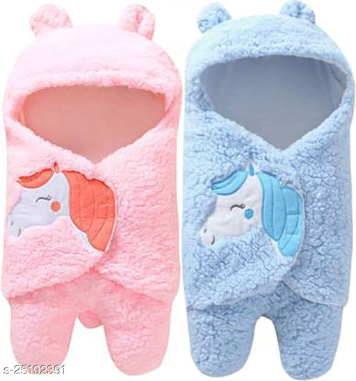 First Trend Hooded Wearable Baby Blanket Cum Wrapper For Babies Combo of 2
