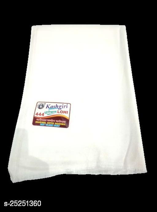 Kashgiri Lohi/Shawl for Men- White (137 x 250 Cm)