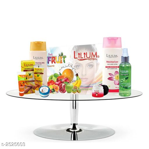 Face Standard Choice Face Skin Care Products Combo   *Product Name* Lilium Fruit Facial Kit, Lemon Hair Remover & Body Care Product Set of 8-GC727  *Brand* LILIUM  *Product Type* Facial Kit & Hair Remover & Body Care Product Set  *Capacity* Apricot Scrub  *Product Description*