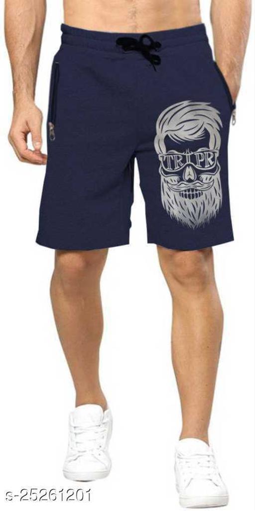 Printed Men Dark Blue Regular Shorts