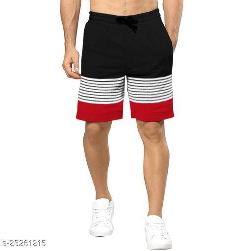 Color Block Men Black, Red Regular Shorts
