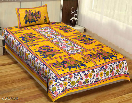 Deepdhi sales presenting New and Latest Design single bed sheet with 1 pillow cover