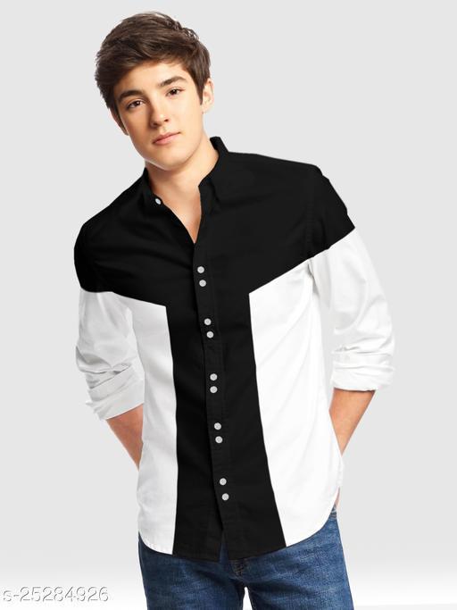 Boys Regular Fit Color Block Casual Shirt
