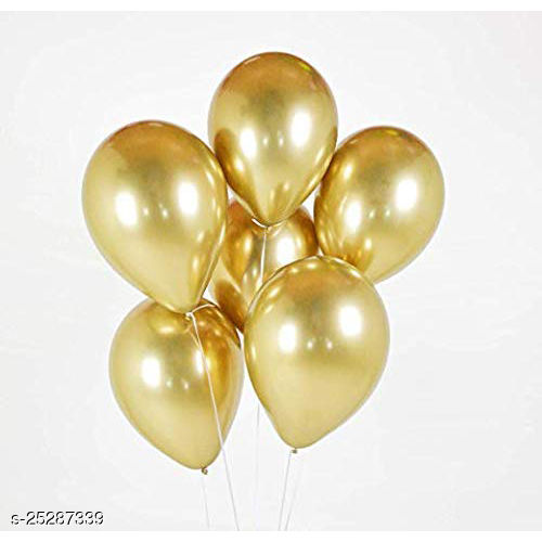 Gold Chrome Balloons Pack Of 5 For Birthdays Anniversaries Weddings Functions And Party Occassions (Party Monkey)