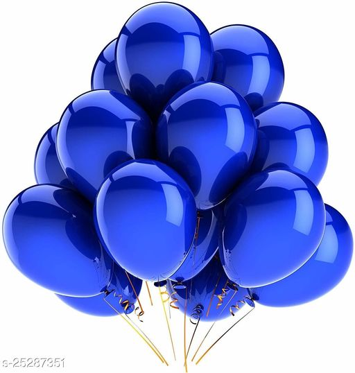 Metallic Plain Solid Colour Finish Balloons For Birthday Anniversary Baby Shower Welcome Baby Weddings Engagement Party Dark Blue Pack Of 25 (Party Monkey)