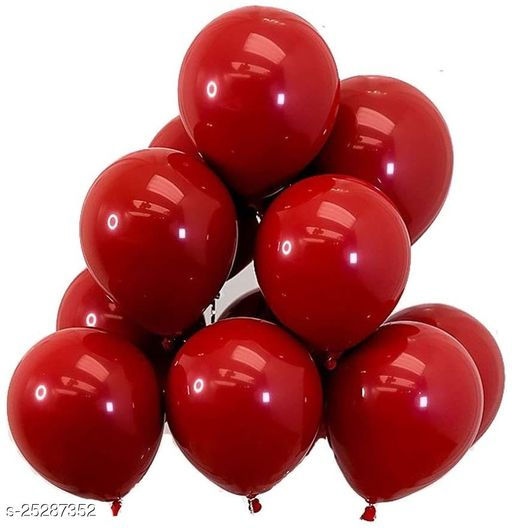 Metallic Shiny Finish Balloons For Birthday Anniversary Baby Shower Welcome Baby Weddings Engagement Party Celebrations Theme Party Red Pack Of 25 (Party Monkey)