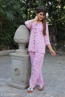 Beautiful Rajasthani Jaipuri Rayon Printed Night Suit