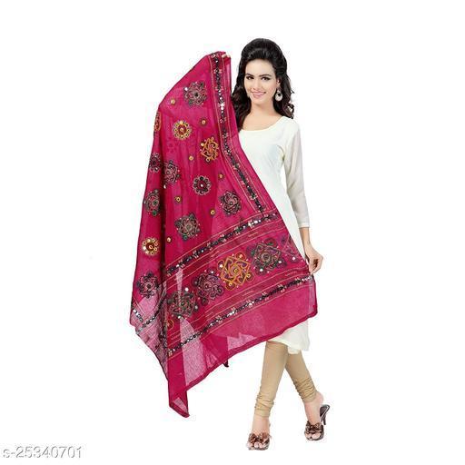 Pure Cottan Embroidered Multicolor Women Duppata