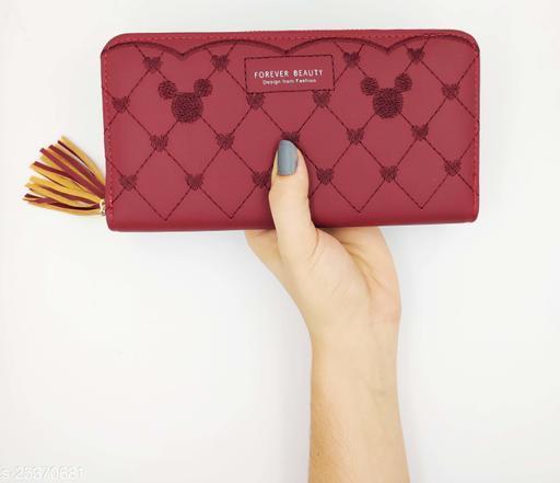 Unique Women's Maroon Wallet