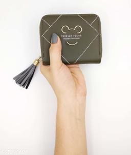 Beautiful Women's Green Leather Wallet