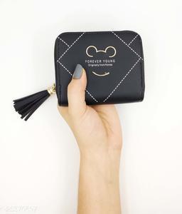 Attractive Women's Black Leather Wallet