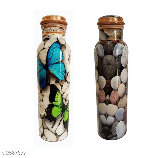 Trendy Copper Bottle Combo