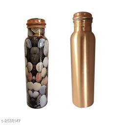 Classy Trendy Copper Bottles Pack of 2