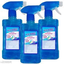 Blue Bubble Spray Hand Sanatizer - Alcohol 70% - Kill Germs 99.9% - 500ml Spray 3 Bottale Hand Sanitizer