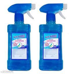 Blue Bubble Spray Hand Sanatizer - Alcohol 70% - Kill Germs 99.9% - 500ml Spray 2 Bottale Hand Sanitizer