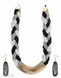 Black-Grey Colour Combination Necklace Jewellery