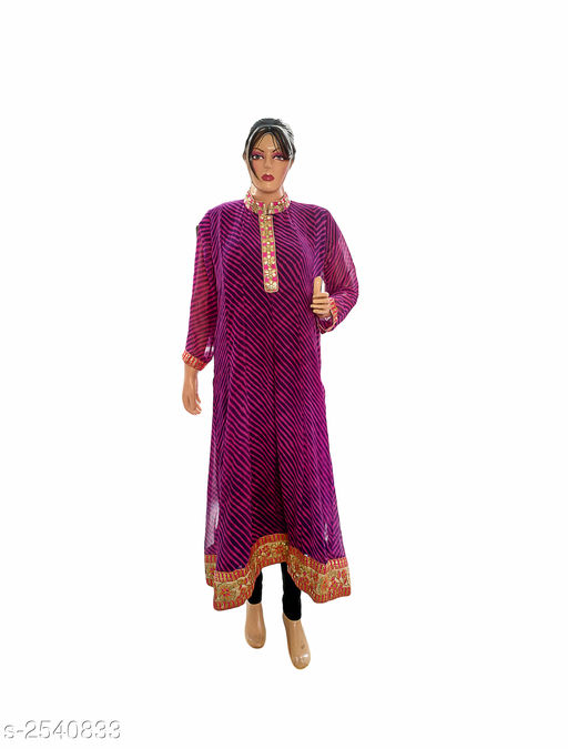 Kurtis & Kurtas Elegant Style Printed Kurti  *Fabric* Georgette  *Sleeves* 3/4 Sleeve Are Included  *Size* XXL- 44 in  *Length* Up To 48 in  *Type* Stitched  *Description* It Has 1 Piece Of Women's Kurti  *Work* Printed  *Sizes Available* XXL   Supplier Rating: ★3.8 (401) SKU: Kurti---4024  Free shipping is available for this item. Pkt. Weight Range: 300  Catalog Name: Allure Elegant Style Printed Kurtis vol 8 - Ard Fashion Code: 019-2540833--