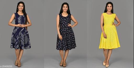 Aashirya Export Set Of 3 Pcs Combo Short Dress