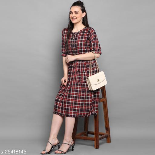 Women's Cotton Western Dress