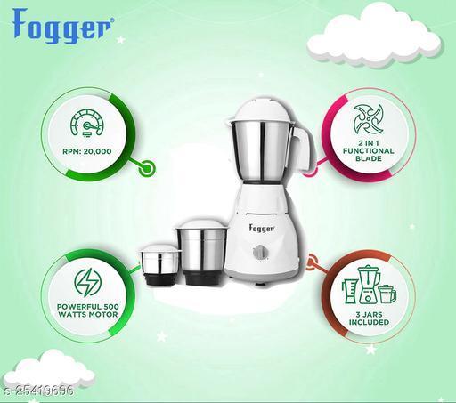 Fogger Dimond Power Pro 500 Watt Mixer Grinder, 3 Jar