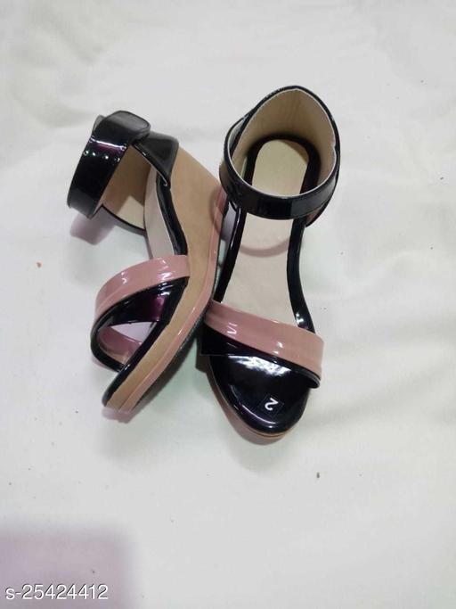 Ethnic Girl's Black Heels & Sandals
