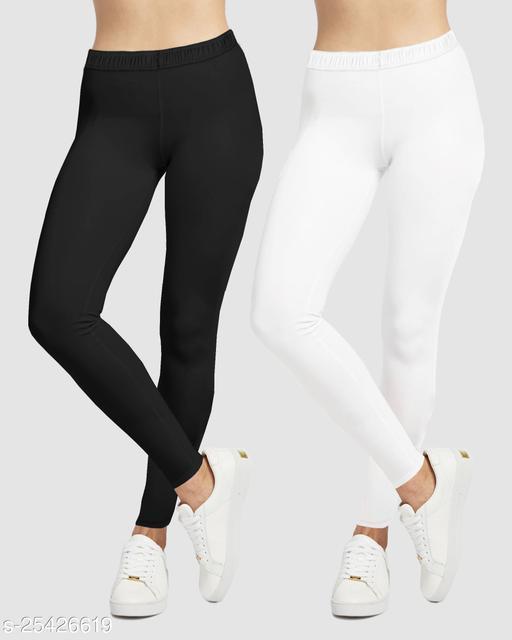 Ethnic Wear Legging(Black, White, Solid)