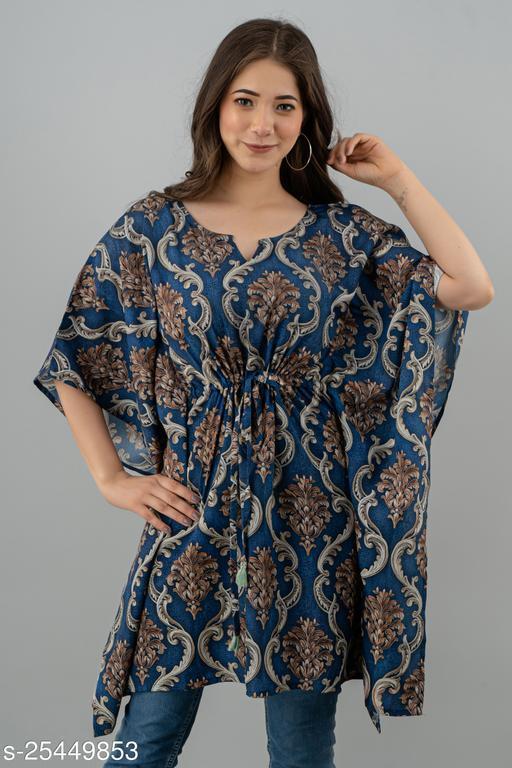 Comfy Blue Premium Rayon Kaftan
