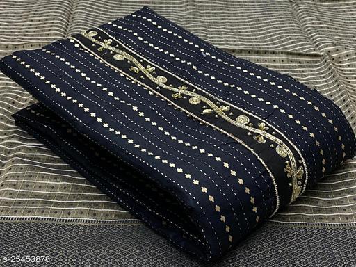 Black Gold Print Cotton Suits & Dress Materials